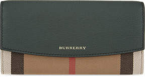Burberry House check continental leather wallet - BOTTLE GREEN - STYLE