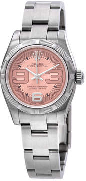 Rolex Lady Oyster Perpetual Pink Dial Maxi Numeral Dial Marker Ladies Watch