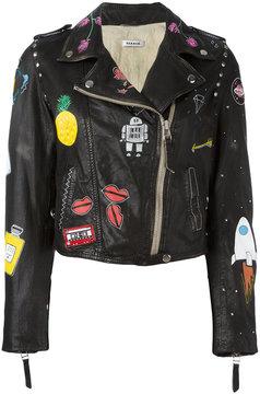 P.A.R.O.S.H. multi-prints biker jacket