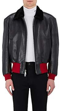Calvin Klein Men's Shearling-Collar Leather Jacket