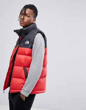 The North Face 1992 Nuptse Down Vest 2 Tone in Red/Black