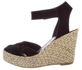 Pedro Garcia Suede Wedge Sandals