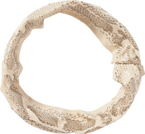 Elle Metallic Print Tan Head Wrap
