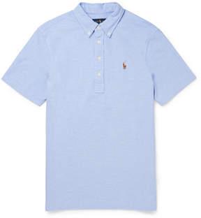 Polo Ralph Lauren Slim-Fit Button-Down Collar Cotton-Piqué Polo Shirt