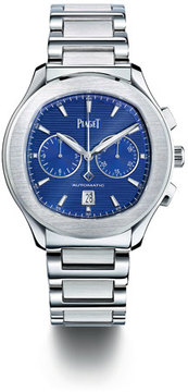 Piaget Stainless Steel Blue Chronograph Watch