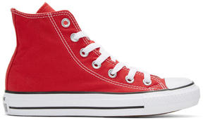 Converse Red Classic Chuck Taylor All Star OX High-Top Sneakers