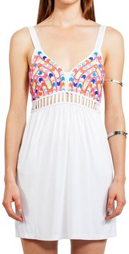6 Shore Road Boddha Beaded Mini Coverup