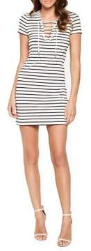 Bardot Striped Swing Dress