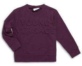 Versace Little Boy's & Big Boy's Embossed Print Sweater