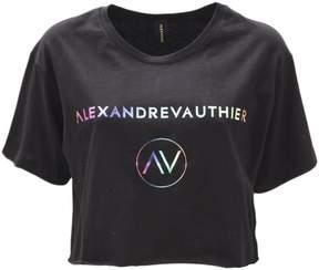 Alexandre Vauthier Black Cotton T-shirt
