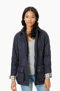 Barbour Navy Beadnell Polarquilt Jacket