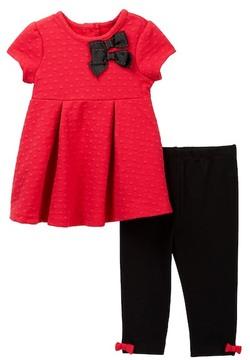 Little Me Red Dot Dress & Leggings Set (Baby Girls)