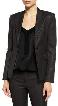 ATM Anthony Thomas Melillo Stretch Sparkle Schoolboy Jacket, Black