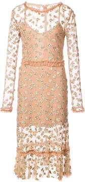 For Love & Lemons insect and butterfly embroidered dress
