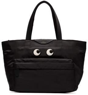 Anya Hindmarch black Eyes nylon tote bag