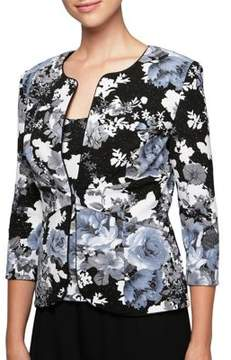 Alex Evenings Plus Floral Jacket and Camisole Twin Set