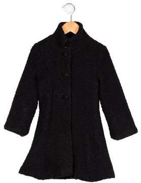 Helena Girls' Flared Wool-Blend Coat