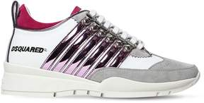 DSQUARED2 40mm 251 Metallic Stripes Suede Sneakers