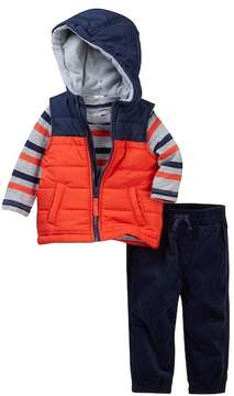 Little Me Orange 3-Piece Vest Set (Baby Boys)