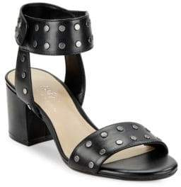 424 Fifth Harrow Studded Leather Open-Toe Sandals