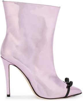 Marco De Vincenzo patent ankle boots