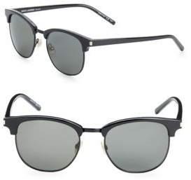 Saint Laurent 52MM Clubmaster Sunglasses