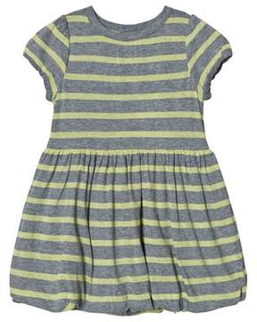 Mini A Ture Grey and Yellow Stripe Dress