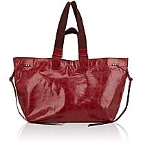 Isabel Marant Women's Wardy Leather Shopper Tote Bag - Red