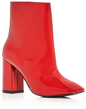 Jaggar Women's Patent Leather Block Heel Booties