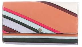 Tory Burch Paneled Leather Clutch