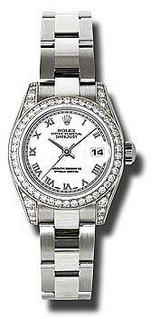Rolex Lady Datejust 26 White Dial 18K White Gold Oyster Bracelet Automatic Watch