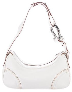 Burberry Grained Leather Shoulder Bag - WHITE - STYLE