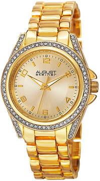 August Steiner Womens Gold Tone Strap Watch-As-8149yg