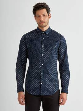 Frank and Oak The Andover Stretch Shirt with Little Lines in Navy Blazer