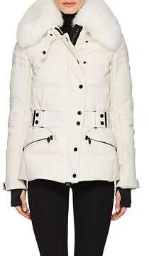 Moncler Women's Belleville Fur-Trimmed Down-Quilted Coat