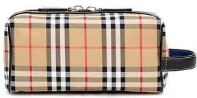 Burberry Check and leather pouch