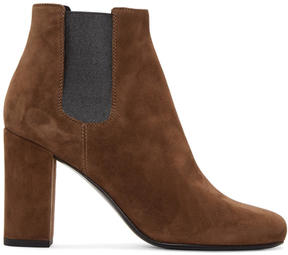 Saint Laurent Brown Babies Ankle Boots