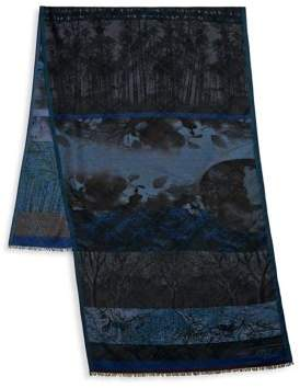 Etro Forest Frayed Scarf