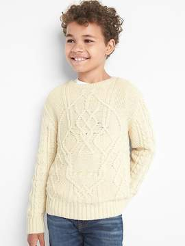 Gap Skeleton cable knit sweater