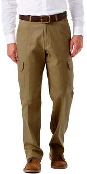 Haggar Men's Flat-Front Stretch Comfort Cargo Expandable Waist Pants