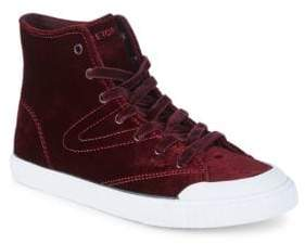 Tretorn Marley Velvet High-Top Sneakers