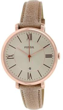 Fossil Women's ES3487 Jacqueline Leather Watch, 36mm