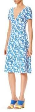 Carolina Herrera Sleek Floral-Print Dress