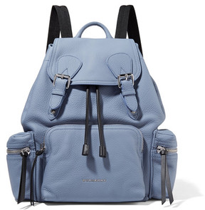 Burberry Medium Chain-trimmed Textured-leather Backpack - Light blue - LIGHT BLUE - STYLE