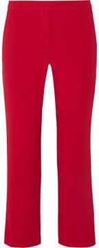Altuzarra Nettle Cropped Crepe Flared Pants - Crimson