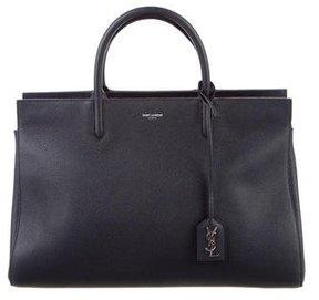 Saint Laurent Medium Cabas Rive Gauche Satchel - BLUE - STYLE
