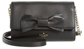 Kate Spade Women's Olive Drive - Corin Leather Convertible Clutch - Black - BLACK - STYLE