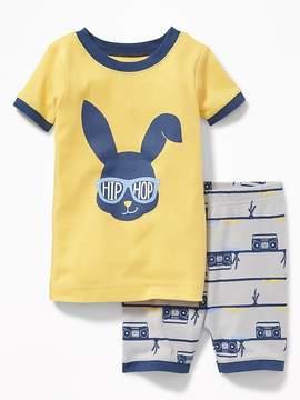 Old Navy Hip Hop Bunny Sleep Set for Toddler Boys & Baby
