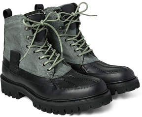 Rag & Bone Spencer Canvas And Leather Duck Boots