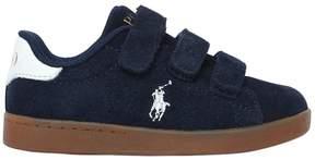 Ralph Lauren Logo Detail Suede Strap Sneakers